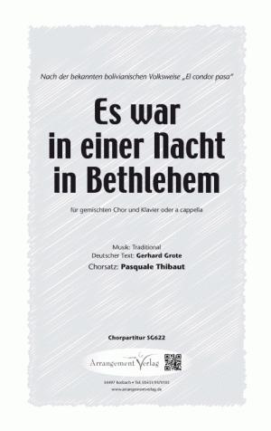 Chornoten: Es war in einer Nacht in Bethlehem