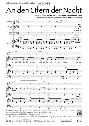Chornoten: An den Ufern der Nacht (vierstimmig)