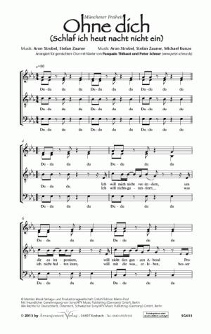 Chornoten: Ohne Dich (vierstimmig)