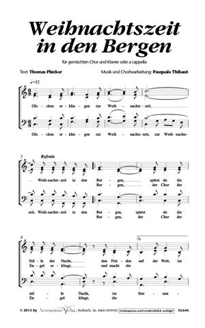 Chornoten: Weihnachtszeit in den Bergen (vierstimmig)