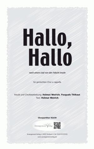 Hallo, Hallo für gemischten Chor