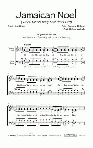 Chornoten: Jamaican Noel (vierstimmig)