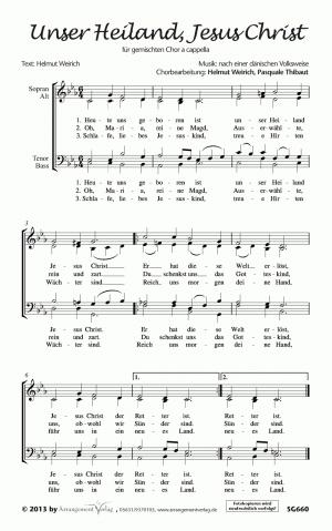 Chornoten: Unser Heiland, Jesus Christ (vierstimmig)