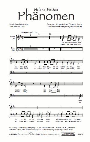 Chornoten: Phänomen (vierstimmig)