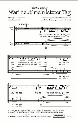 Chornoten: Wär heut mein letzter Tag