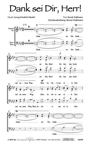 Chornoten: Dank sei dir, Herr (vierstimmig)