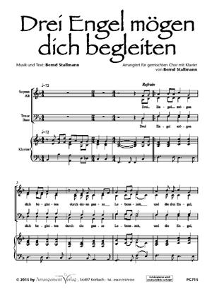Chornoten: Drei Engel mögen dich begleiten (vierstimmig)