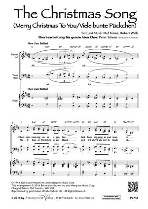 Chornoten: The Christmas Song (vierstimmig)