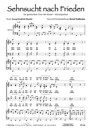 Chornoten: Sehnsucht nach Frieden (vierstimmig)