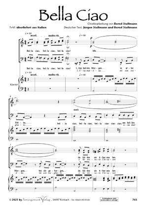 Chornoten: Bella Ciao (vierstimmig)