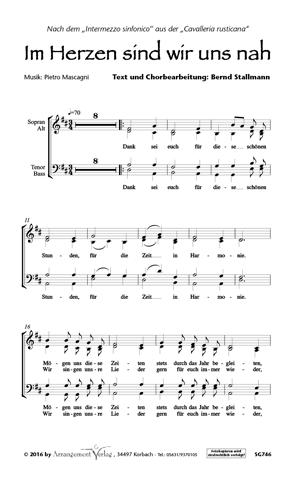 Chornoten: Im Herzen sind wir uns nah (vierstimmig)