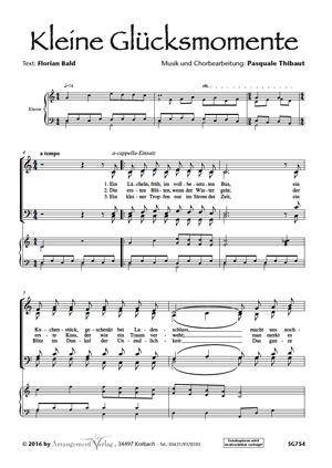 Chornoten: Kleine Glücksmomente (vierstimmig)