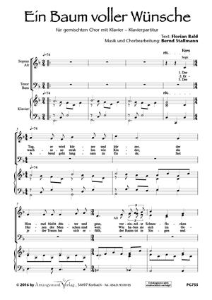 Chornoten: Ein Baum voller Wünsche (vierstimmig)