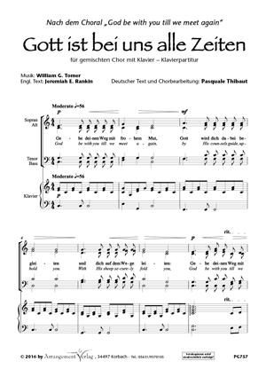 Chornoten: Gott ist bei uns alle Zeiten (vierstimmig)