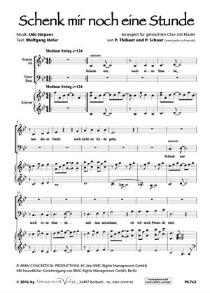 Chornoten: Schenk mir noch eine Stunde (vierstimmig)