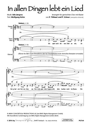 Chornoten: In allen Dingen lebt ein Lied (vierstimmig)