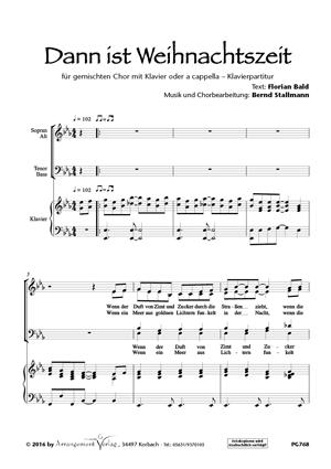 Chornoten: Dann ist Weihnachtszeit (vierstimmig)