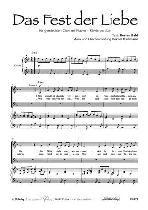 Chornoten: Das Fest der Liebe (vierstimmig)