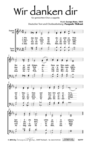 Chornoten: Wir danken dir (vierstimmig)