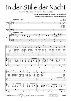 Chornoten: In der Stille der Nacht (vierstimmig)