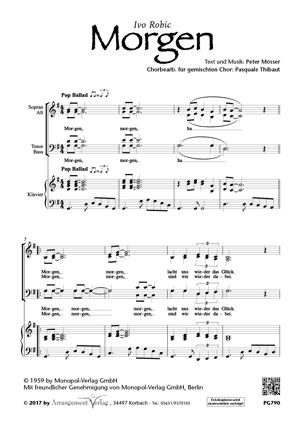 Chornoten: Morgen (vierstimmig)
