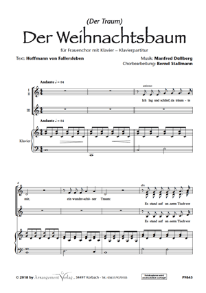 Chornoten: Der Weihnachtsbaum (vierstimmig)