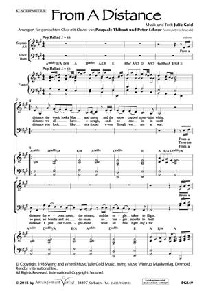 Chornoten: From a distance (Aus der Ferne) (vierstimmig)
