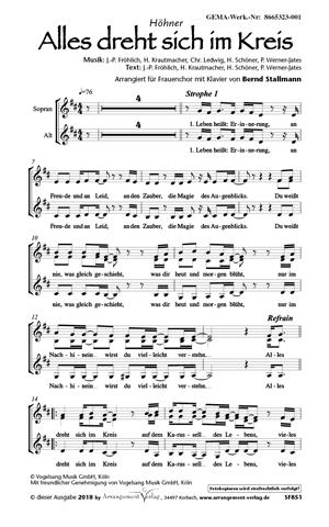 Chornoten: Alles dreht sich im Kreis (vierstimmig)