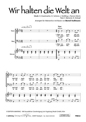 Chornoten: Wir halten die Welt an (vierstimmig)