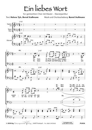Chornoten: Ein liebes Wort (vierstimmig)