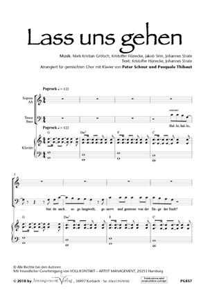 Chornoten: Lass uns gehen (Lass uns gehn)