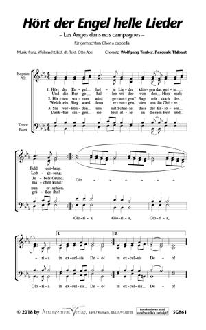 Chornoten: Hört der Engel helle Lieder (vierstimmig)