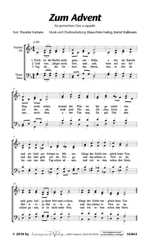 Chornoten: Zum Advent (vierstimmig)