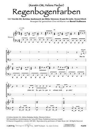 Chornoten: Regenbogenfarben (vierstimmig)