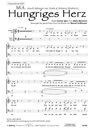 Chornoten: Hungriges Herz (vierstimmig)