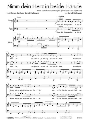 Chornoten: Nimm dein Herz in beide Hände (vierstimmig)