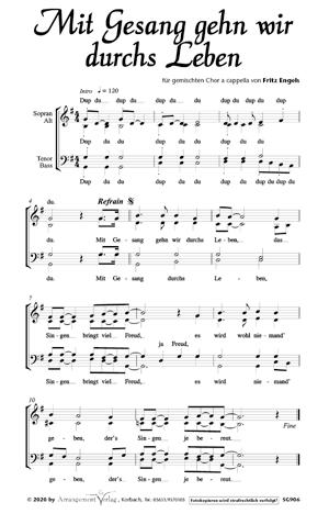 Chornoten: Mit Gesang gehn wir durchs Leben (vierstimmig)