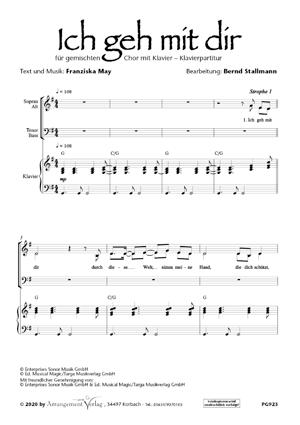 Chornoten: Ich geh mit dir (vierstimmig)