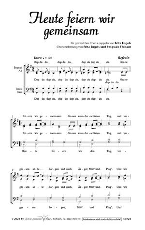 Chornoten: Heute feiern wir gemeinsam (vierstimmig)