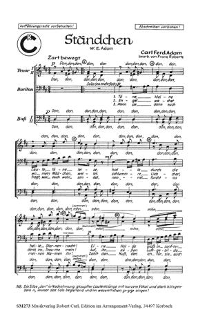 Chornoten: Ständchen (vierstimmig)