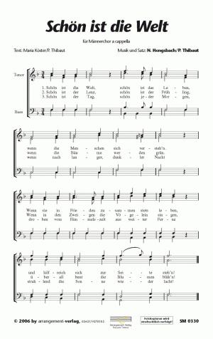 Chornoten Schön ist die Welt