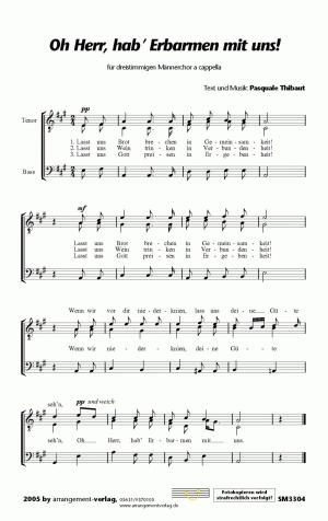 Chornoten: Oh Herr, hab Erbarmen mit uns für Männerchor