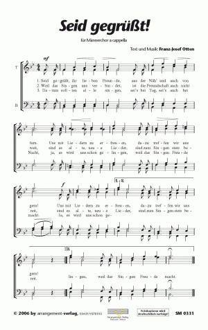 Chornoten: Seid gegrüßt (vierstimmig)