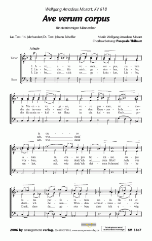 Chornoten: Ave verum corpus (dreistimmig)