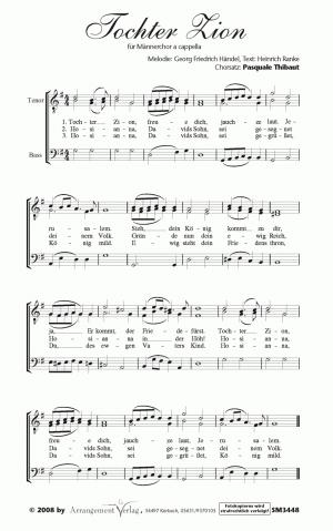 Chornoten: Tochter Zion, freue dich für Männerchor