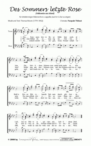 Chornoten: Des Sommers letzte Rose für Männerchor