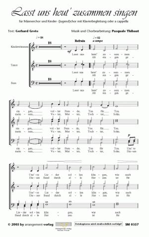 Chornoten Lasst uns heut zusammen singen
