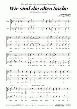 Chornoten: Wir sind die alten Säcke (vierstimmig)