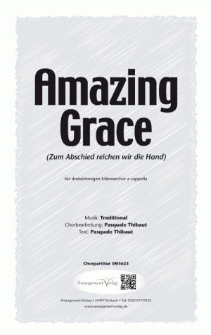 Amazing Grace (Dreistimmig) für Männerchor