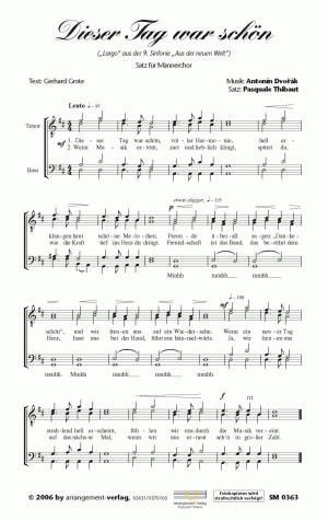 Chornoten: Dieser Tag war schön für Männerchor